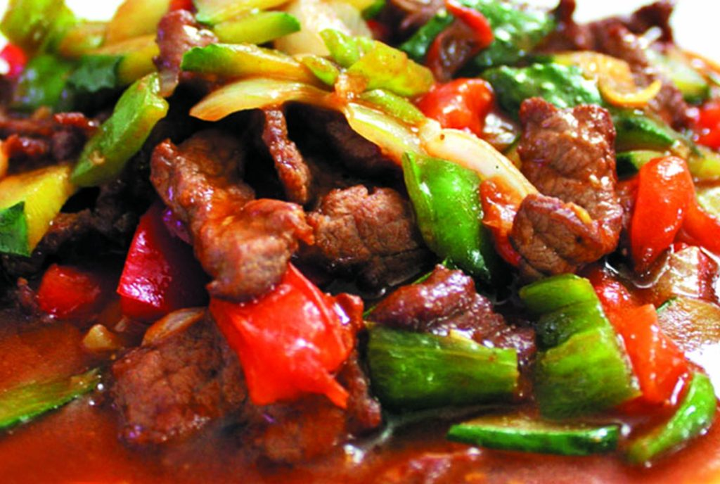 Острый салат из говядины